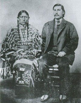George Bent and his wife, Magpie