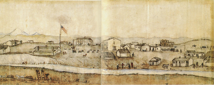 Fort Laramie drawing